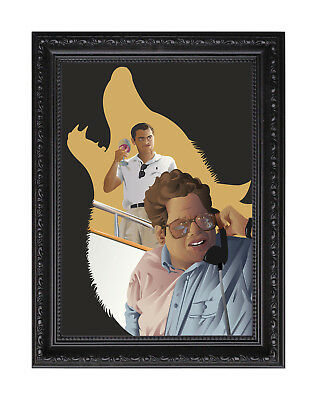 The Wolf of Wall Street Caricature Poster or Art Print