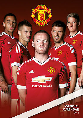Manchester United Official Wall Calendar 2016 A3 New & Sealed (Man Utd)