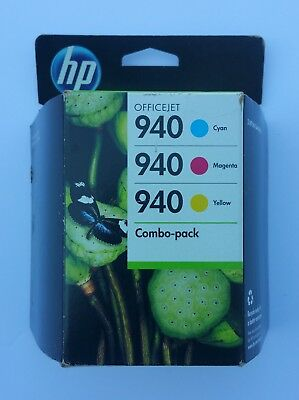 Genuine HP 940 Tri-Color Ink Cartridge - Combo Pack - NEW Sealed Expired