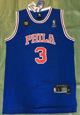reputable site ca029 c5103 10TH ANNIVERSARY ALLEN Iverson Sixers 3# Jersey Available Size S M L XL XXL
