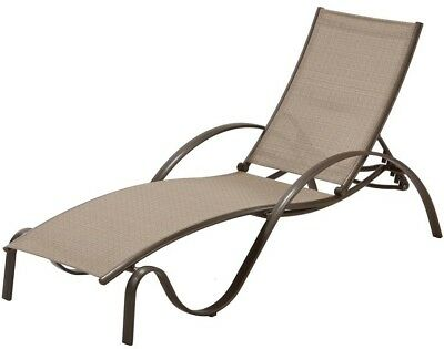 Outdoor Patio Furniture Chaise Lounge Commercial Grade Aluminum