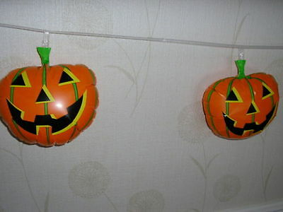 HALLOWEEN Inflatable Pumpkin Banner - 6 in total & 2.4m long Decorations