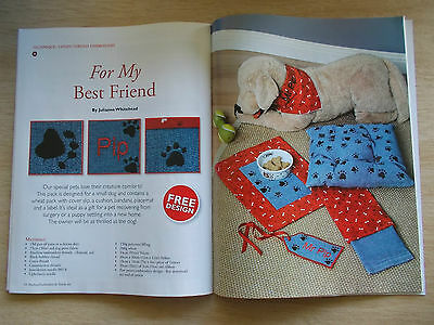 Machine Embroidery & Textile Art Vol 19 #2~Quilts~Cushion~Runner~Nightie~Pets
