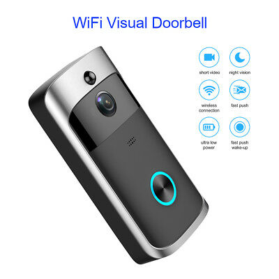 Wireless WiFi Phone DoorBell Visual Camera Two Ways Intercom Door Bell Remote AU