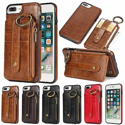 New Detachable Leather Wallet Card Back Cover Case For iPhone X 8/7/6S Plus TU