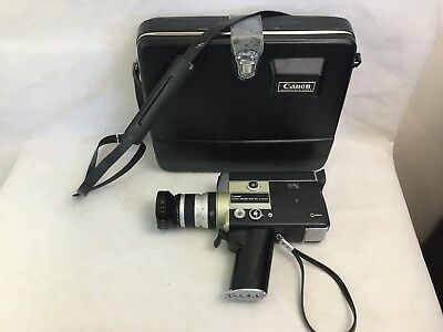 Canon - Auto Zoom 518 SV - Super 8 - Movie Camera - With Original Case - Vintage