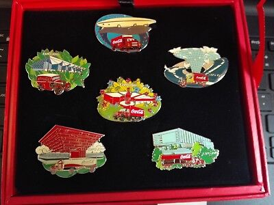 2010 Shanghai Expo Coca Cola Pavilion Truck Pin Set With Box