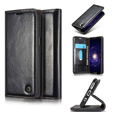 Luxury Genuine Leather Flip Wallet Phone Case Cover For Samsung Galaxy S8 A8 J3
