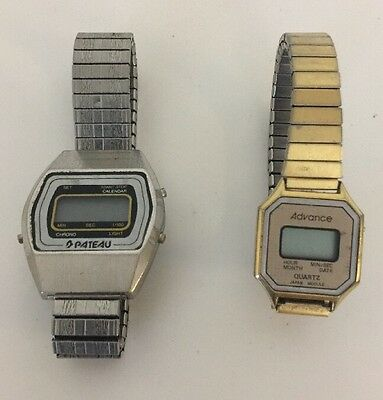 Pateau Hong Kong Watch Digital Electric Vintage Watch & Advance Quartz Woman's