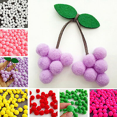 Eg _100pcs Flauschige Handwerk Pompons 10 Farbe Pom Poms About 15mm Special