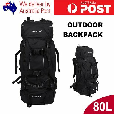 Duarable Camping Hiking Backpack Travel Rucksack 80L Extral Load Outdoor Pack GT