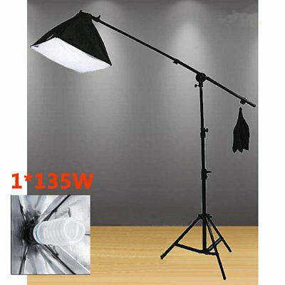Photo Studio Softbox Lighting Video Soft Box Light Stand Kit Photography 135W OZ
