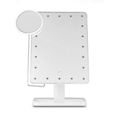 20 LED Light Touch Screen Make-up Mirror Cosmetic Stand Mirror 10X Magnifyi K8A9