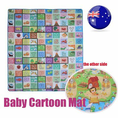 2mx1.8m XXL Nontoxic Baby Kids Play Mat Floor Rug Picnic Cushion Crawling Mat L9