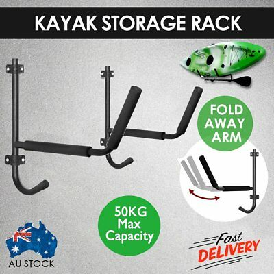 Foldable Kayak Storage Rack Carrier Canoe Paddle Surfboard Holder Wall Bracket %