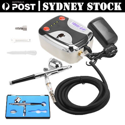 Air Brush Compressor Dual Action Spray Gun Airbrush Kit 0.3mm Needle Art Set SYD