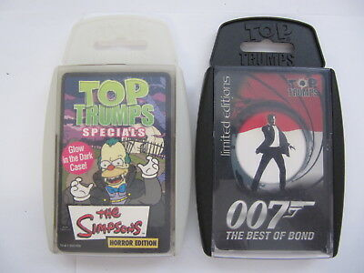 Top Trumps The Simpsons Horror James Bond 007 Best Of Bond Card Game