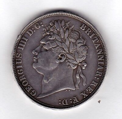 Great Britain 1821 George IV Secundo Solid Silver Crown Coin