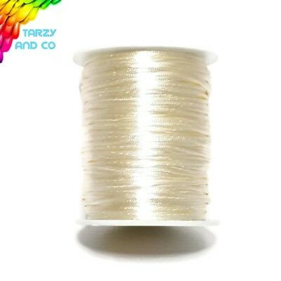 1.5mm Beige Satin Nylon Cord DIY Silicone Bead  Was Teething Necklace Jewellery
