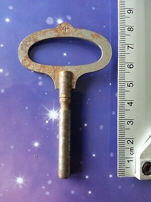 Size 4 Antique Vintage Clock Winding Winder Key Mantle Grandfather 8Cm Long