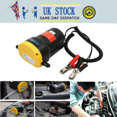 12V  Extractor Electric Pump Oil Fluid Car Diesel Transfer Plastic & Aluminium
