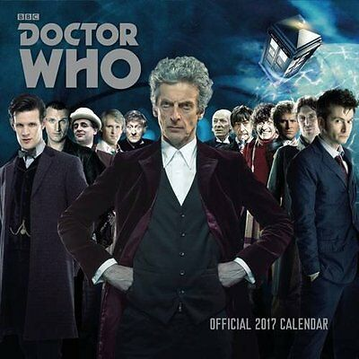 Doctor Who Classic Edition Official 2017 Square Wall Calendar 9781785490750