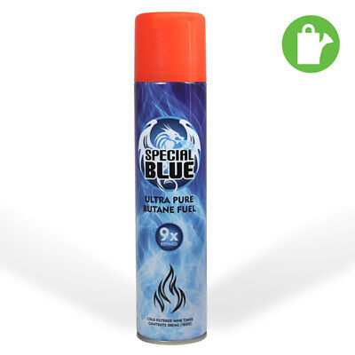 Special Blue 9x Filtered Ultra Pure Butane Fuel 300ml Lighter Refill - Odorless