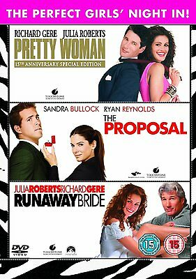 Girls Night In Triple Pack DVD Pretty Woman, Proposal, Runaway Bride Collection