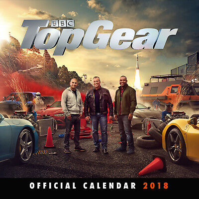 Top Gear Official 2018 Calendar - Square Wall Format Brand New 9781785493980