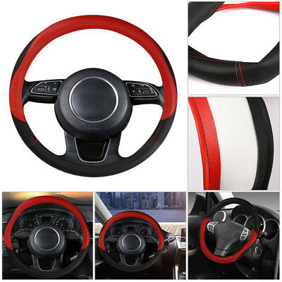 DIY 38cm/15'' Car Steering Wheel Cover Microfiber Leather Summer Grip Cool&Soft