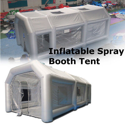 Portable Giant Oxford Cloth Inflatable Tent Workstation Spray Paint With 110V