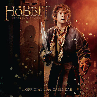 The Hobbit Official 2018 Calendar Square Wall Format 16 Month NEW 9781785493942
