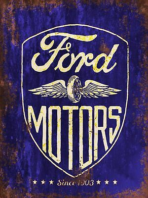Ford Motors Vintage Retro style Metal Sign Garage Advertisement wall Plaque