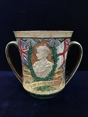 "Rare 1937 Royal Doulton Loving ""King George VI & Elizabeth"" Coronation Cup Noke"