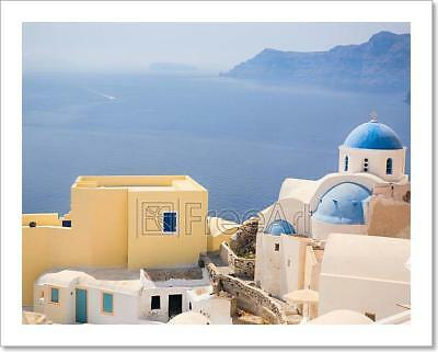 Santorini Church Art Print Home Decor Wall Art Poster - E