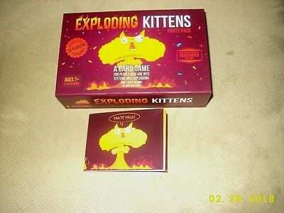 EXPLODING KITTENS PARTY PACK Card Game Friend Party Fun Gift NEW!