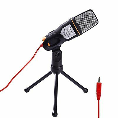 3.5 mm Condenser Sound Studio Recording Microphone Mic with Stand for PC Laptop