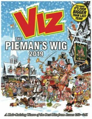 VIZ Annual 2019 The Pieman's Wig Brand New Hardback Annual 9781781066768