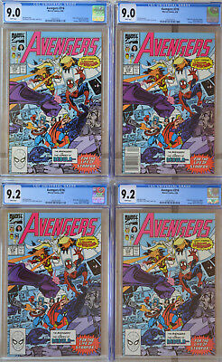 AVENGERS #316 (04/1990) Investment LOT of (4) CGC 9.0-9.2 WHITE Spider-Man joins