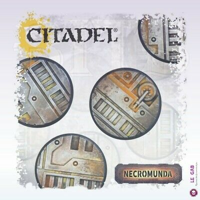 Citadel Necromunda Underhive Accessories Round Bases Sculpted 25Mm & 32Mm