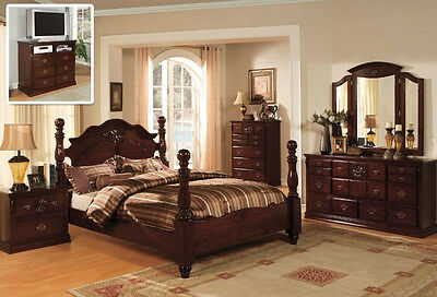 CLASSIC ITALIAN STYLE Queen King 4 Pc Set Bedroom Antique ...
