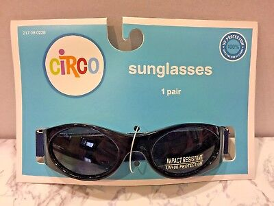 Infant Circo (Target) Sunglasses Oxford Blue Flexible & Adjustable Band 100% Uv