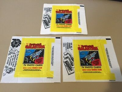 Battlestar Galactica - 10x Wax Pack Card Wrappers 1979 Topps - NO TEARS !