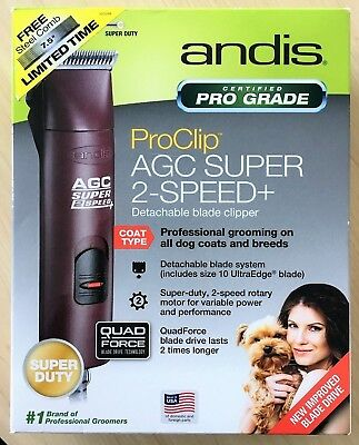 USED!!!Andis AGC Super 2-Speed Detachable Blade Clipper #10
