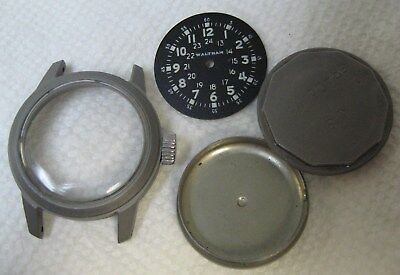 Vintage Waltham Military New old stock Men's Wristwatch Case and Dial
