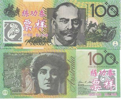 AUSTRALIA $100 ~ Chinese bank Tells; NOT Legal Tender ~FREE SHIPPING Canada / US