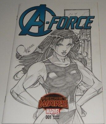 A-Force #1  (2015.marvel) Pencil Quick Sketch Art. She Hulk