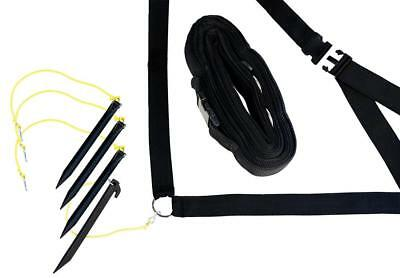 Park & Sun Sports Adjustable Outdoor Volleyball Boundary Webbing with Ground...