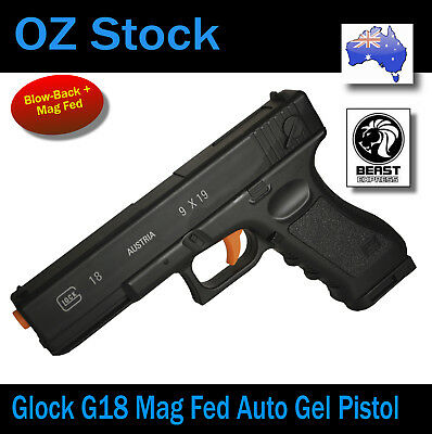 SKD GLOCK G18 Mag Fed Gel Ball Blaster Electric Water Toy 100% AUS STOCK