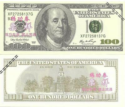 AMERICAN $100 ~ Chinese bank Tells; NOT Legal Tender ~FREE SHIPPING Canada / USA